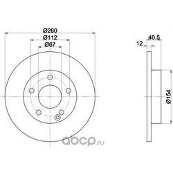 Диск тормозной TEXTAR (Textar) 92091203