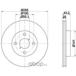 Диск тормозной TEXTAR (Textar) 92115603