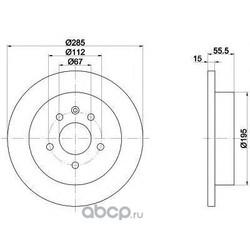 Тормозной диск (Textar) 92090000