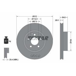 Тормозной диск (Textar) 92115305