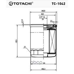 Масляный фильтр (TOTACHI) TC1042