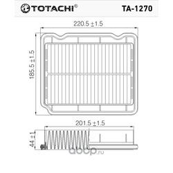 Воздушный фильтр (TOTACHI) TA1270