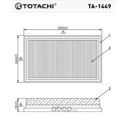 Воздушный фильтр (TOTACHI) TA1449