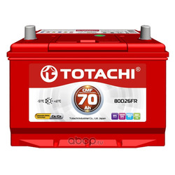 Батарея аккумуляторная 70А/ч 620А 12В прямая полярн. выносные (Азия) клеммы (TOTACHI) 4589904524301