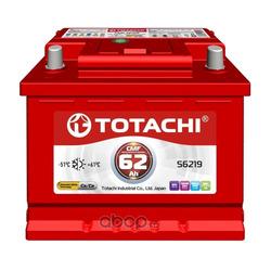 Батарея аккумуляторная 62А/ч 540А 12В обратная полярн. стандартные клеммы (TOTACHI) 4589904929977