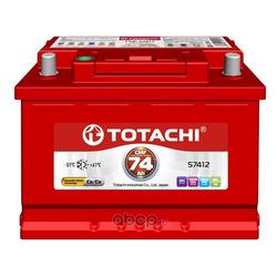 Батарея аккумуляторная 74А/ч 680А 12В обратная полярн. стандартные клеммы (TOTACHI) 4589904929991
