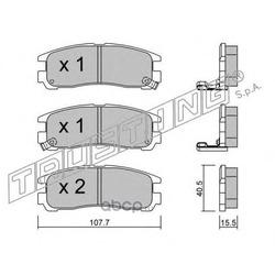 Комплект тормозных колодок, дисковый тормоз (Trusting) 4130