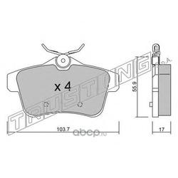 Комплект тормозных колодок, дисковый тормоз (Trusting) 8720