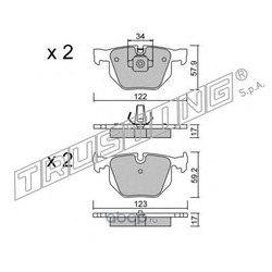 Комплект тормозных колодок, дисковый тормоз (Trusting) 5770