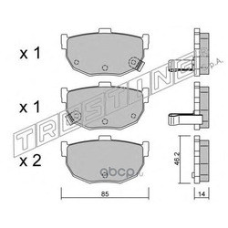 Комплект тормозных колодок, дисковый тормоз (Trusting) 3710
