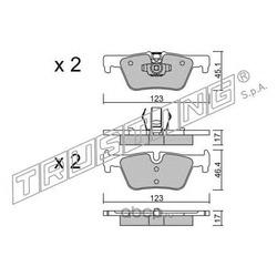 Комплект тормозных колодок, дисковый тормоз (Trusting) 9780