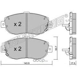 Комплект тормозных колодок, дисковый тормоз (Trusting) 7720