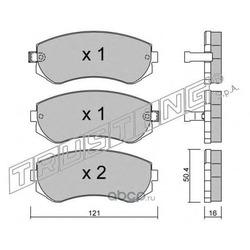 Комплект тормозных колодок, дисковый тормоз (Trusting) 3130