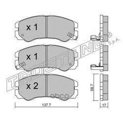 Комплект тормозных колодок, дисковый тормоз (Trusting) 3660
