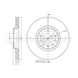Тормозной диск (Trusting) DF1087
