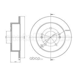 Тормозной диск (Trusting) DF1114