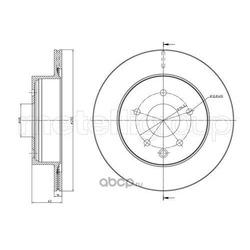 Тормозной диск (Trusting) DF1139