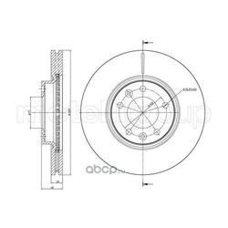 Тормозной диск (Trusting) DF1457