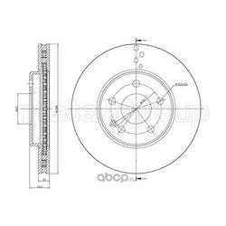 Тормозной диск (Trusting) DF233