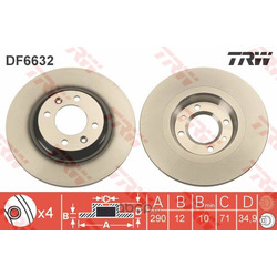 Тормозной диск (TRW/Lucas) DF6632