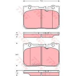 Колодки тормозные дисковые, комплект (TRW/Lucas) GDB3226