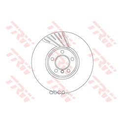 Тормозной диск (TRW/Lucas) DF6612S