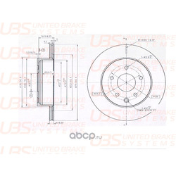 Диск тормозной задний (UBS) B2205001