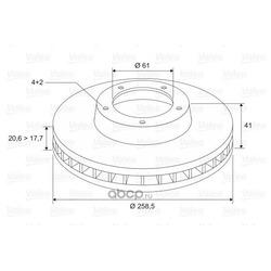 Тормозной диск (Valeo) 297208
