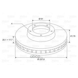 Тормозной диск (Valeo) 297229
