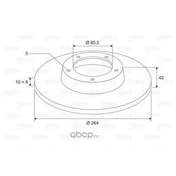Тормозной диск (Valeo) 297593