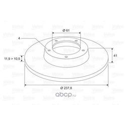 Тормозной диск (Valeo) 297230