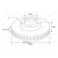 Тормозной диск (Valeo) 297655