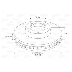 Тормозной диск (Valeo) 297695