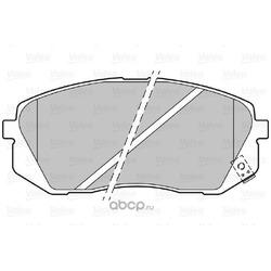 Комплект тормозных колодок, дисковый тормоз (Valeo) 301324