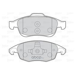 Комплект тормозных колодок, дисковый тормоз (Valeo) 301997