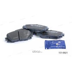 Тормозные колодки дисковые передние (Ween) 1510021