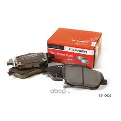 Тормозные колодки дисковые передние (Ween) 1510026