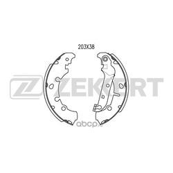 Колодки торм. бараб. зад Ford Fiesta IV V 96- Fusion (JU) 02- Mazda 2 I 03- (Zekkert) BK4468