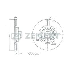 Диск.торм.перед. Audi A4 II III 00- A6 II 97- Skoda Superb (3U) 01- VW Passat V 97- (Zekkert) BS5279
