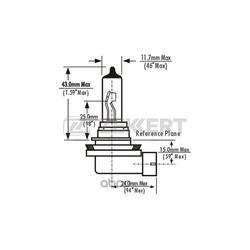Лампа H11 12V 55W PGJ19-2 (Zekkert) LP1019