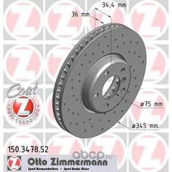 Тормозной диск (Zimmermann) 150347852