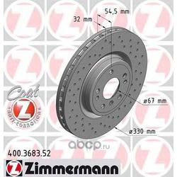 Тормозной диск (Zimmermann) 400368352