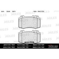MILES Колодки тормозные MERCEDES-BENZ W163 98 05/W220 98 05/W129 передние (Miles) E100318