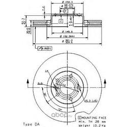 Диск тормозной передний / AUDI A6, A8 (321x30) 03 (Brembo) 09953411