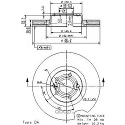 Диск тормозной передний / AUDI A6, A8 (321x30) 03 (Brembo) 09953414
