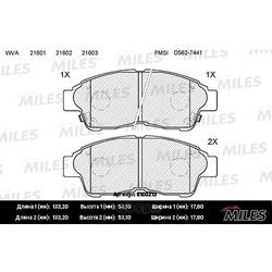 Колодки тормозные COROLLA 92 01/CARINA E 92 96/RAV 4 94 95 передние (Miles) E100213