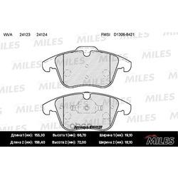 Колодки тормозные FORD MONDEO 07 /S-MAX 06 /VOLVO S80 06 /XC70/V70 07 передние (Miles) E100137