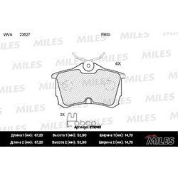 Колодки тормозные HONDA ACCORD 2.0/2.2/2.4 98 задние (Miles) E110161