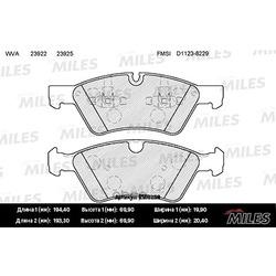 Колодки тормозные MERCEDES W164 (ML)/X164 (GL)/W211/W251 04 передние (Miles) E100259