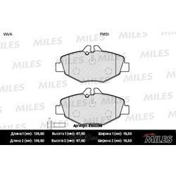 Колодки тормозные MERCEDES W211 02 передние (Miles) E100299